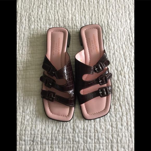 Donald J. Pliner Shoes - Donald Pliner embossed croc slides